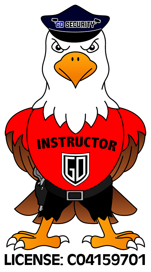 EAGLE WITH HOLSTER INSTRUCTOR LOGO